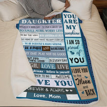 Cargar imagen en el visor de la galería, Mom to Daughter - To Be A Very Best Version Of You - Blanket