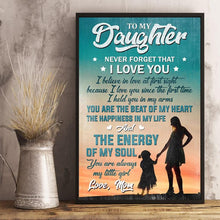Cargar imagen en el visor de la galería, Mom to Daugter - The Happiness In My Life - Vertical Matte Posters