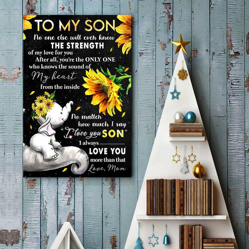 Mom To Son - I Will Always Love You More Than That - Vertical Matte Posters