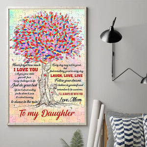 Mom to Daugter - Just Do Your Best - Vertical Matte Posters