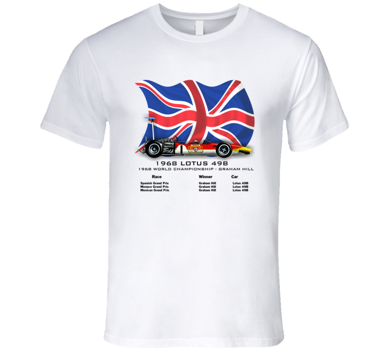 1968 Lotus 49B Formula 1 T-Shirt - Smilingwombat