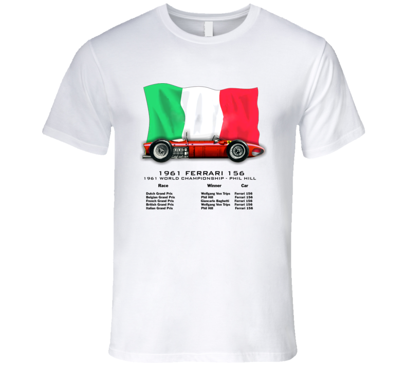 "1961 Ferrari 156 ""Shark Nose"" Formula 1 T-Shirt - Smilingwombat"