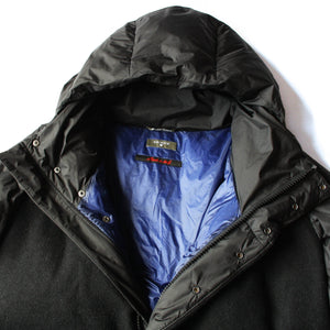 Sleeping Bag Coat - Black Wool
