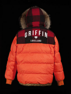 Griffin Reversible Down Smock - Black