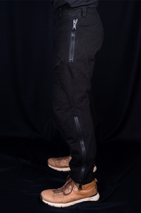 BLACK ORGANIC COTTON FLYING PANT