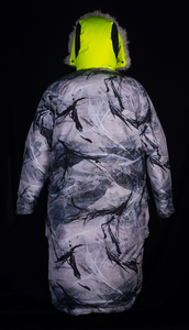 Reversible Snow Camouflage Sleeping Bag Coat