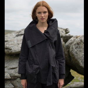 Womens Short Parka Black