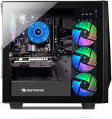 CyberPower PC Intel Core i9-9900k 8-core processor 3.6 GHz (5.0 GHz max Turbo) overclockable graphics: NVIDIA GeForce RTX 2070 8GB Dedicated Graphics card VR ready memory: 16GB 2666MHz DDR4 ram hard disk: 1TB 7200 RPM Hard Drive