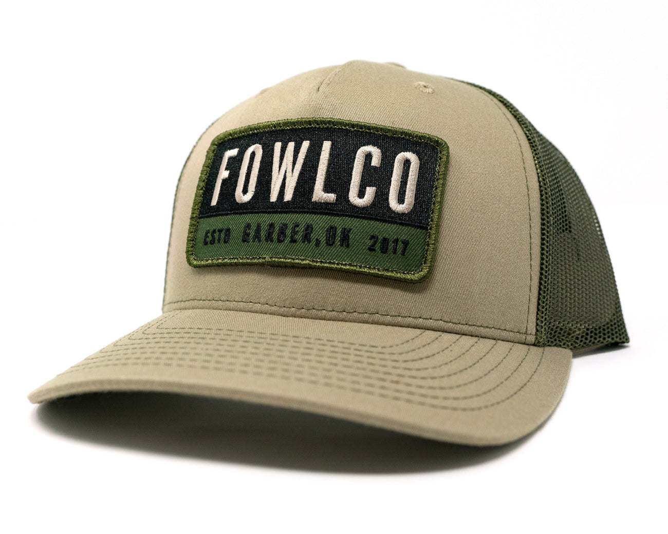 PATCH 112FP TRUCKER - KHAKI/OLIVE