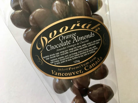 Orange chocolate Almonds.