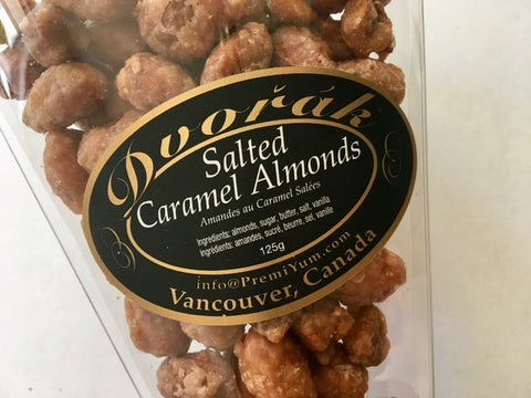 Salted Caramel Almonds.