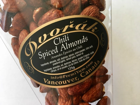 Chili spiced Almonds.