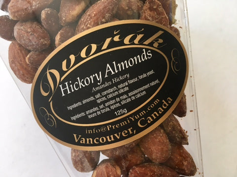 Hickory Almonds.