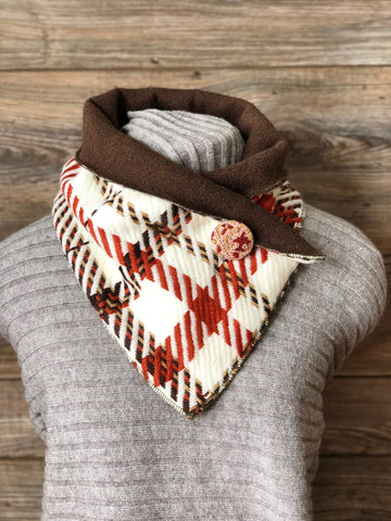 Striped Tartan Cinnamon Neckwarmer