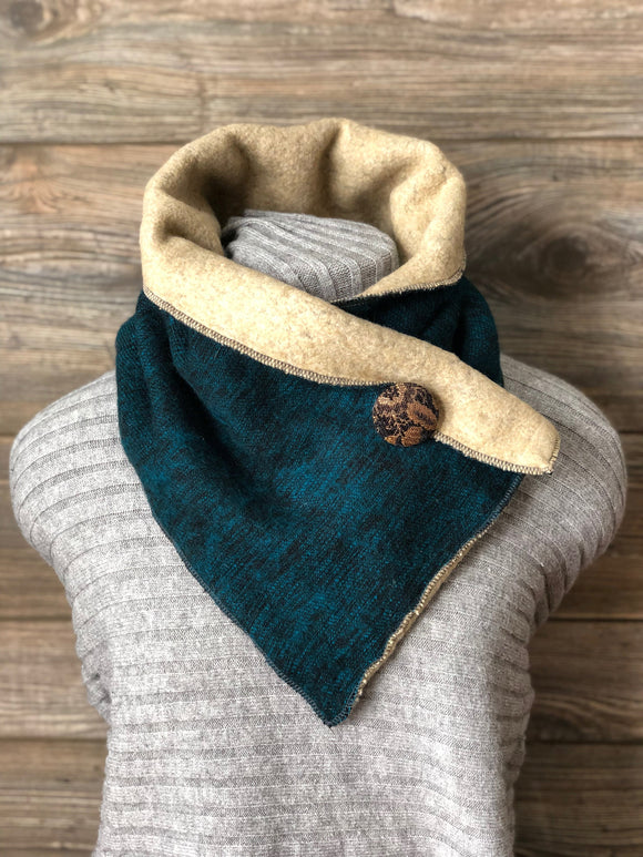 Peacock Blue Neckwarmer