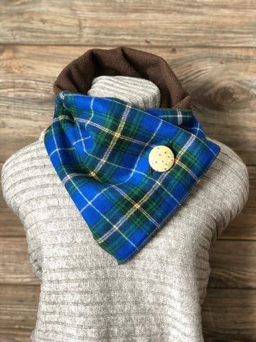 Cobalt Blue Plaid Scarf