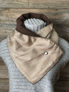 Gold Herringbone Neckwarmer