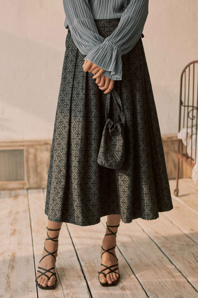 Shadow Pleat & Tie Skirt