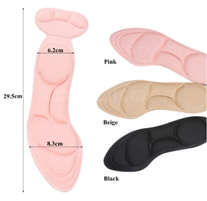 Massage Insole Pad Inserts Heel Post Back Breathable Anti-slip for High Shoes