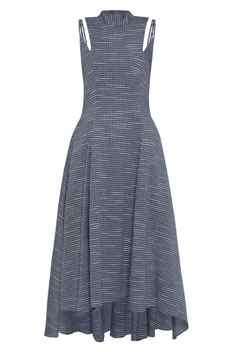 Mullet Dress  with Long Bow in Modern Weave