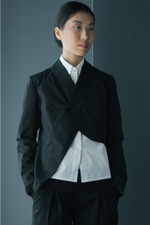 Asymmetrical Cropped Cotton Jacket