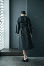 2D Lapel Overlap Cotton Coat Dress