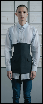 Double Front Pockets Cotton Blend Waistcoat