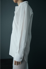Organdy Back Cotton Tunic Shirt in White