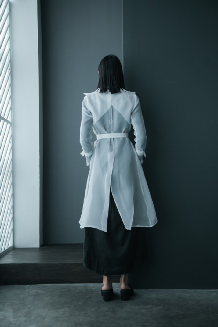 Nipped Waist Organdy Duster Jacket