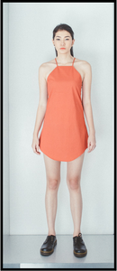 Halter  Mini Slip Dress in Cotton