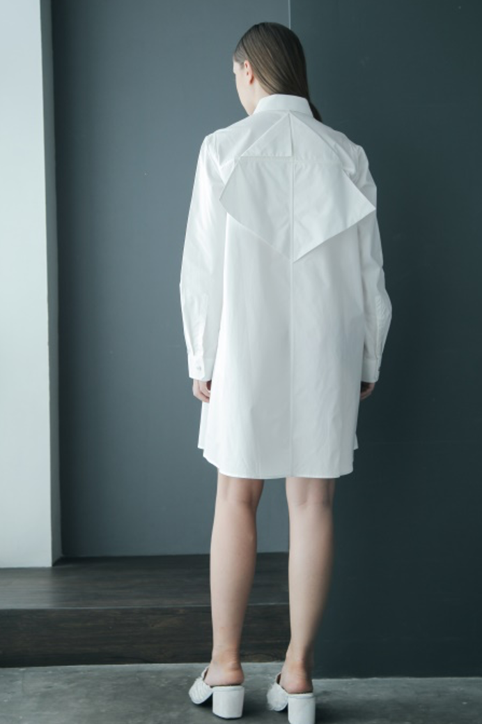 Kite Origami Cotton Shirtdress