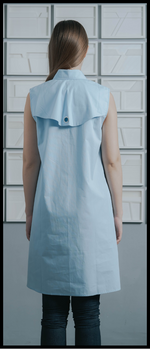 Sleeveless Overlap Front Cotton Tunic