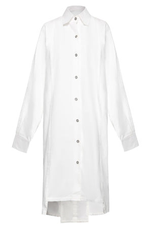 Frayed Edges Cotton Shirtdress