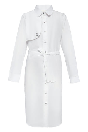 Right Front Panel Cotton Shirtdress