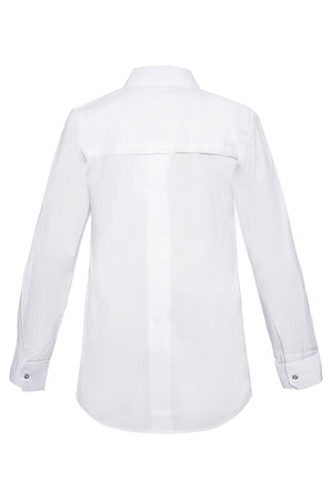 Honeycomb Front Panel Cotton Shirt