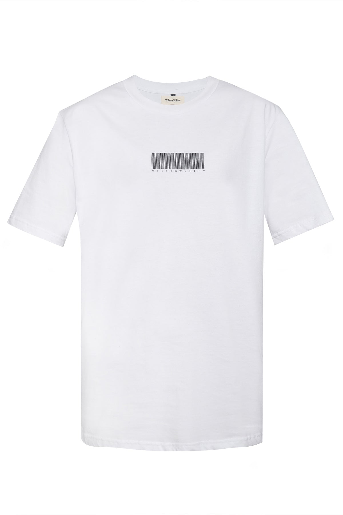 White Short sleeve T-shirt with Barcode