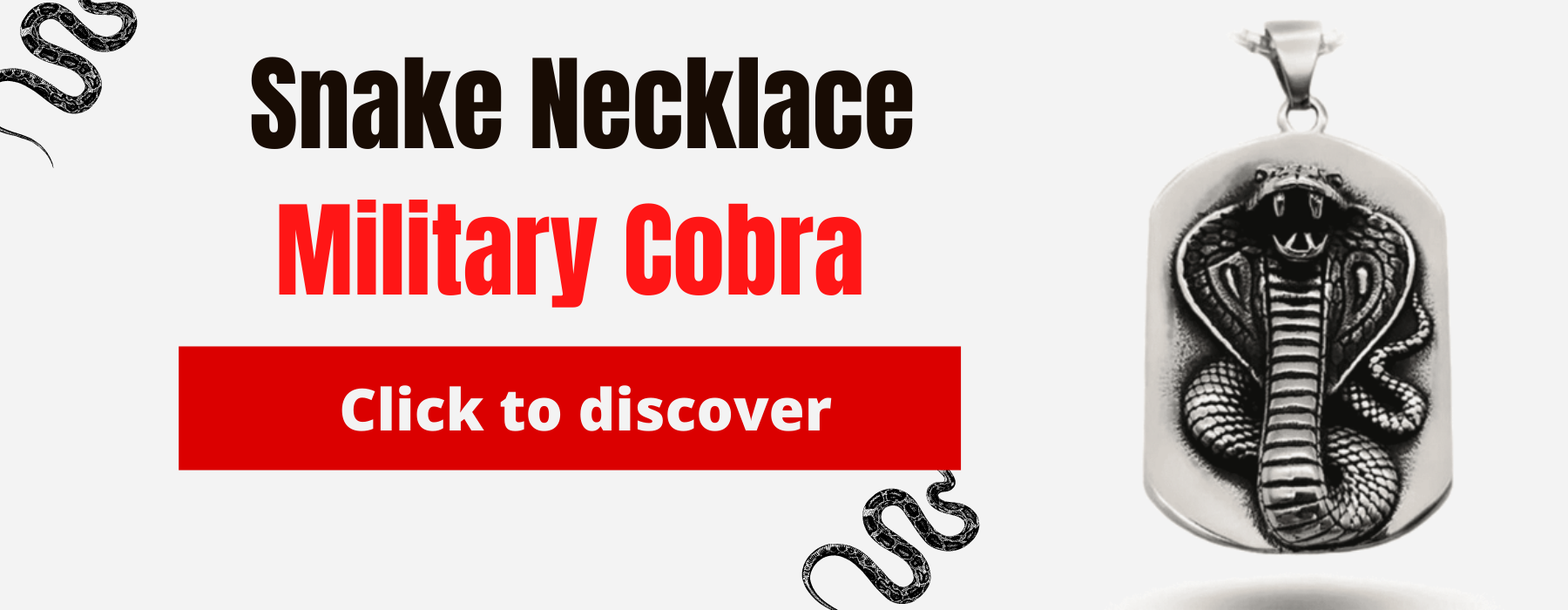 Military Cobra Necklace