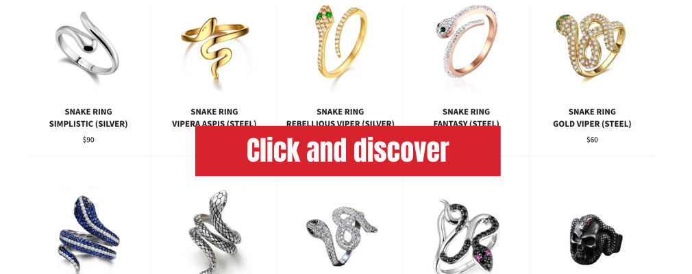 snake jewelry ring The Vipers House