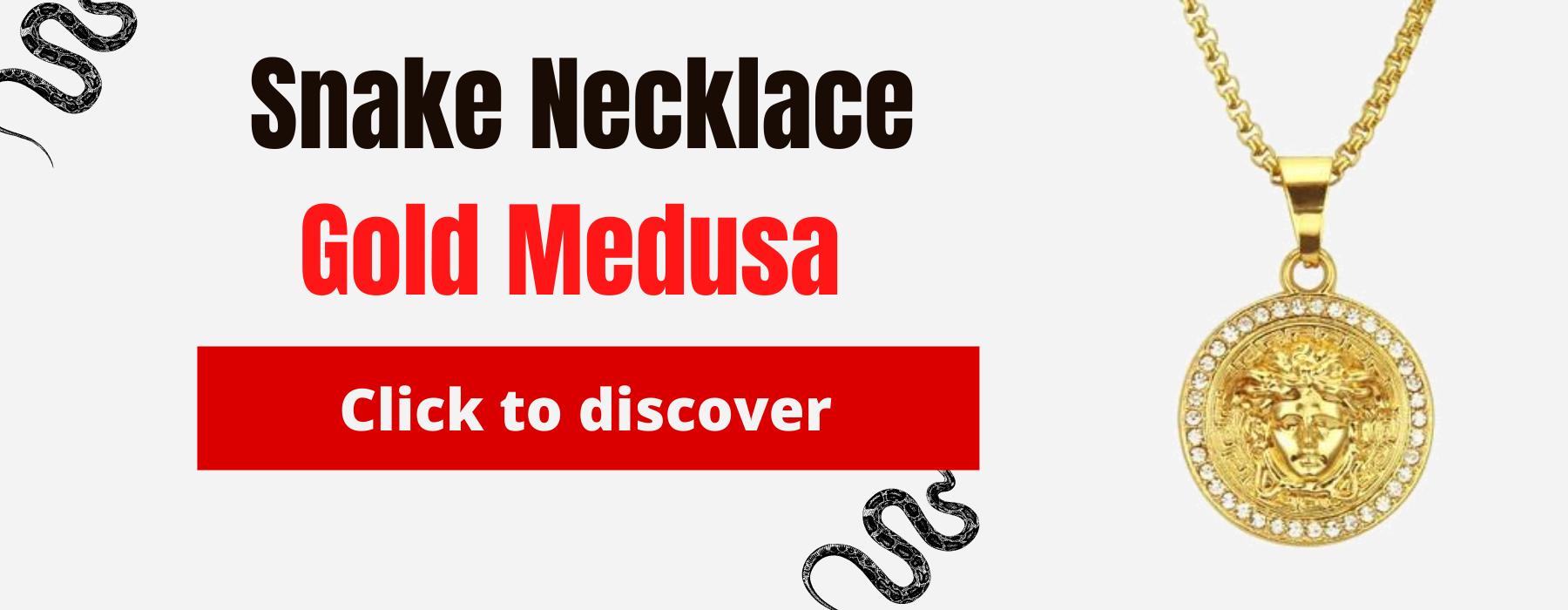 Gold Medusa Snake Necklace