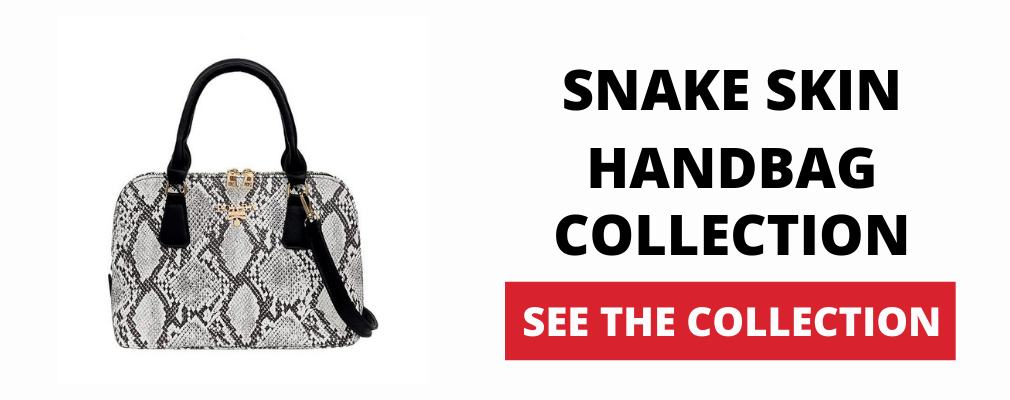 Snakeskin handbag The Vipers House