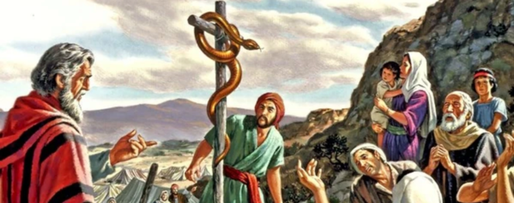 moses with snake
