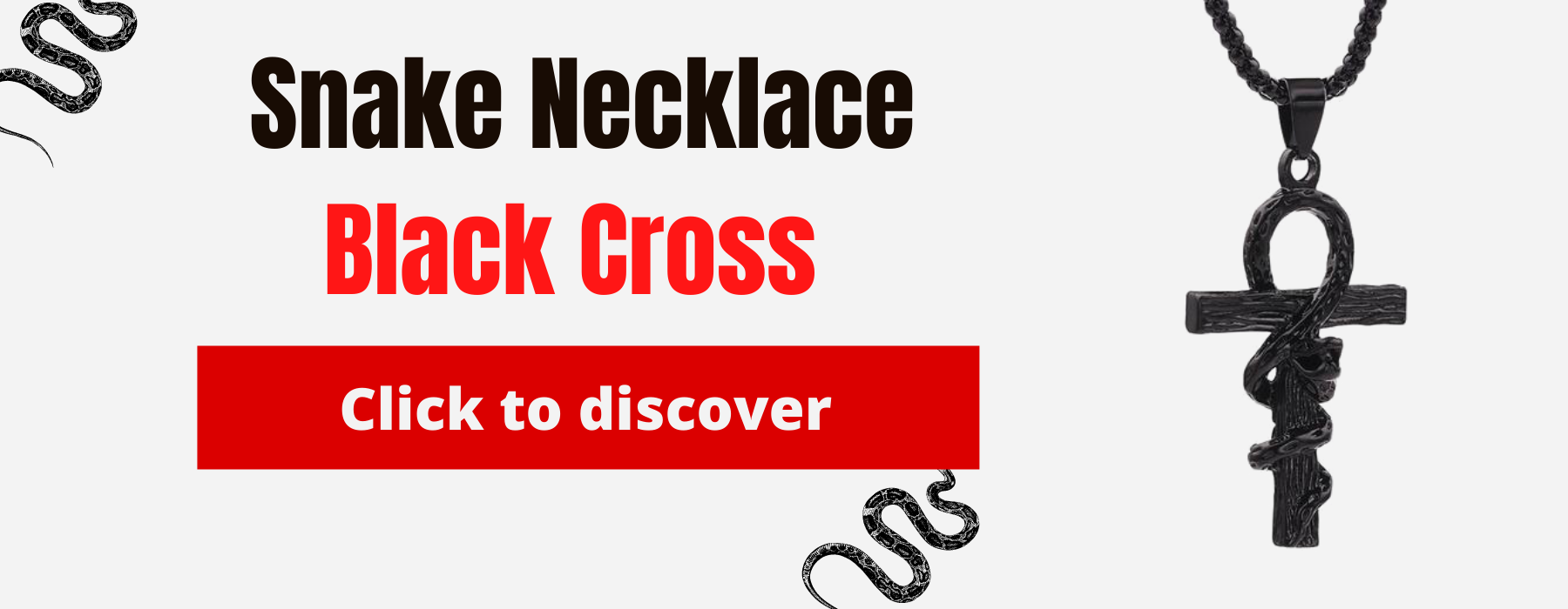 Necklace Black Cross