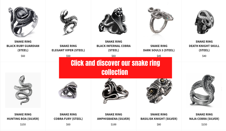 snake silver ring collection