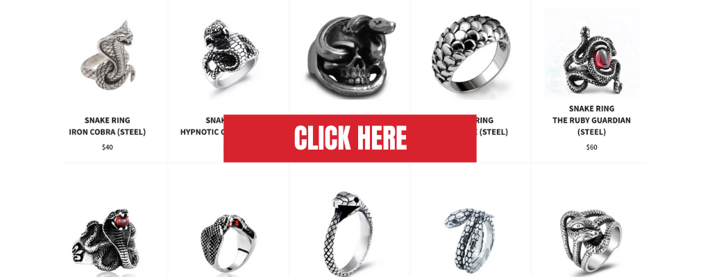 snake ring collection the vipers house