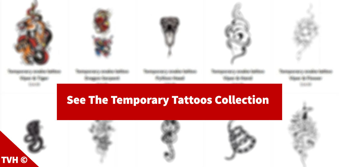 Snake temporary tattoos collection
