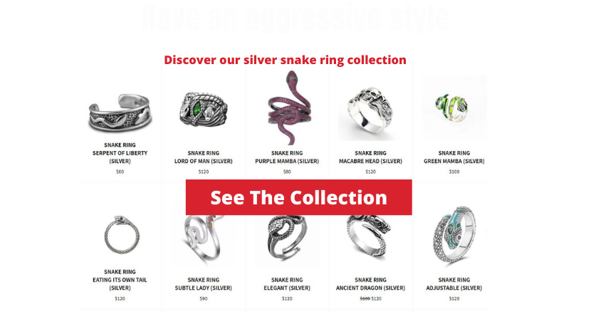 SILVER SNAKE RING THE VIPERS HOUSE
