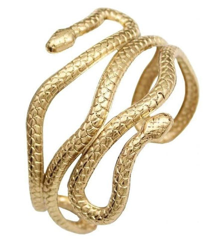 Snake Bracelet - Coiled Serpent - The Vipers House