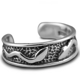Snake ring <br> serpent of liberty (silver) - The Vipers House
