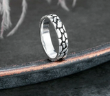 Snake ring <br> serpent skin (silver) - The Vipers House