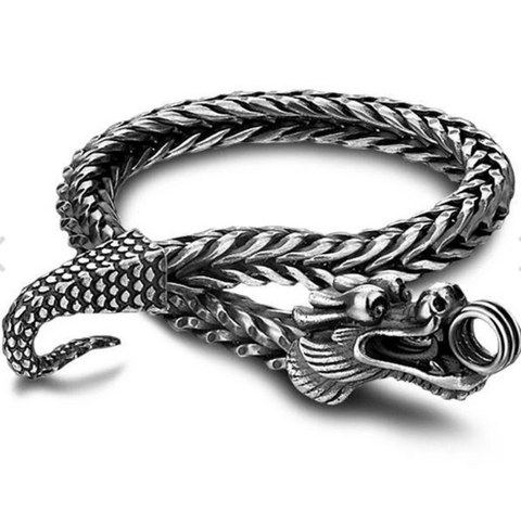 Snake Bracelet <br> Dragon Serpent (silver) - The Vipers House